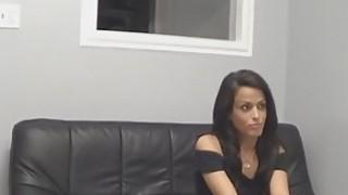 Hot brunette Latina fucked on casting
