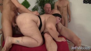 Insatiable BBW Becki Butterfly Is Gangbanged by Five Horny Bastards